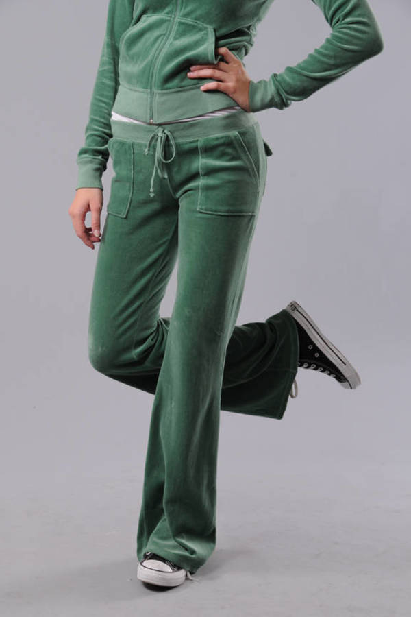 3cebd2d3c4860 Green Juicy Couture Pants - Workout Pants - Green Loungewear Pants ...