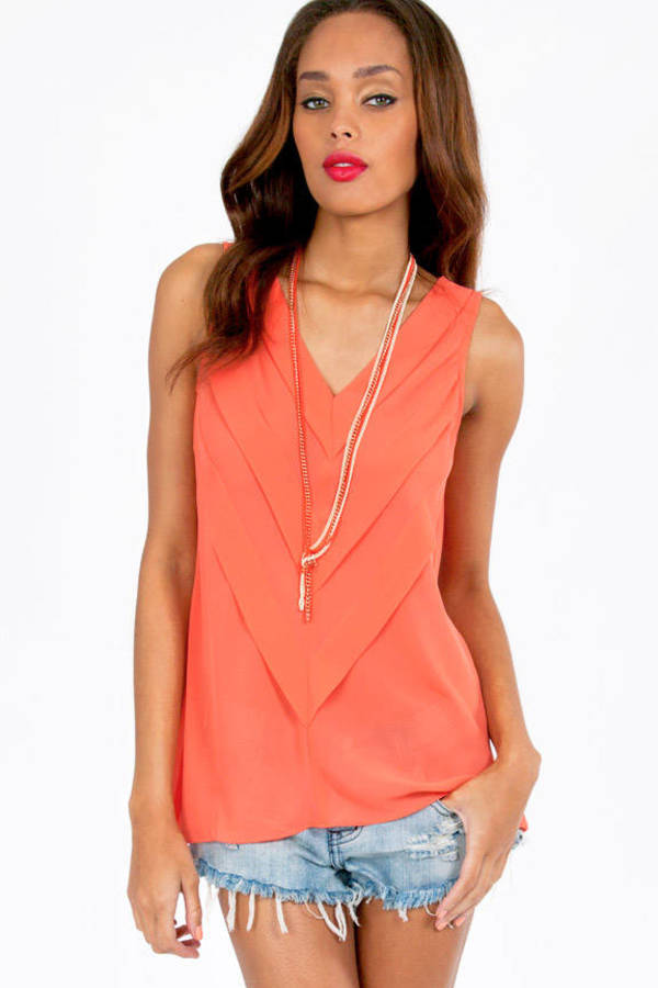 Pretty Pleats Tank Top