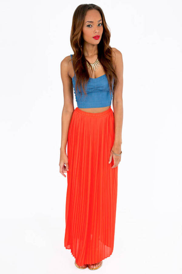Proudly Pleated Maxi Skirt
