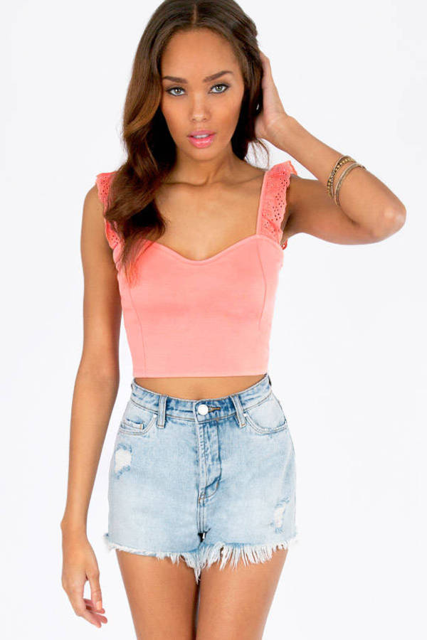 Ruffle Ends Crop Top