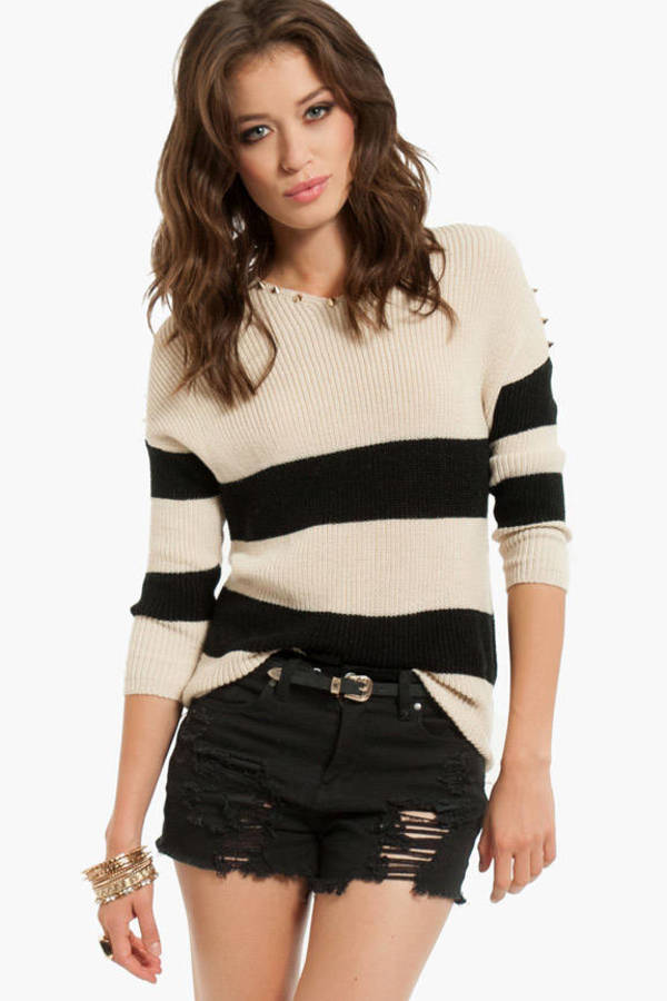 Spikey Stripe Sweater