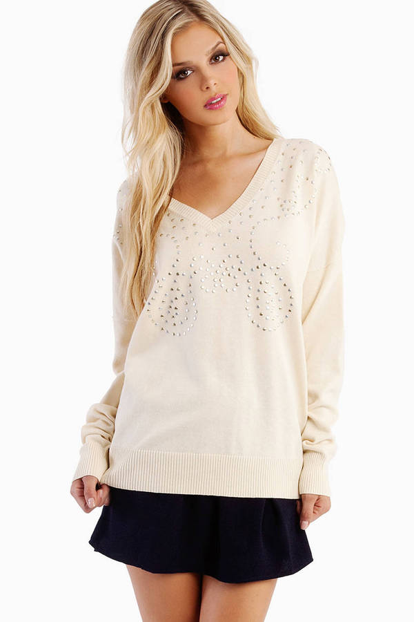One Teaspoon Bombay Studded Knit Sweater