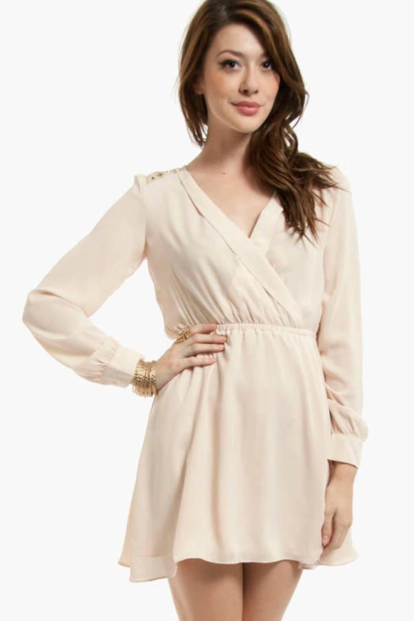 Chip Off Your Shoulder Wrap Dress
