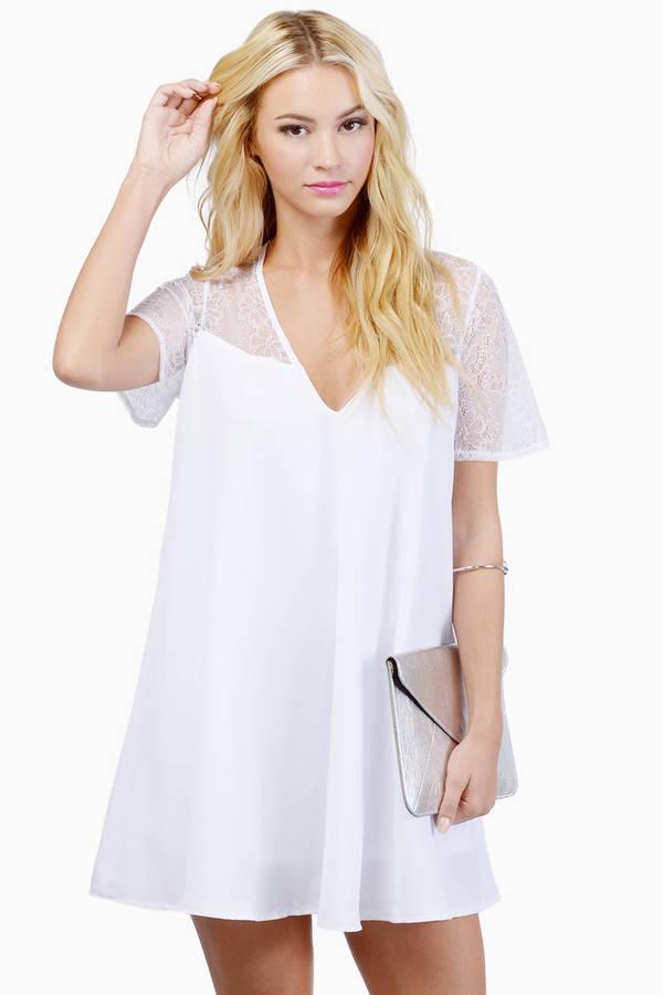Oh My Love Deep V Lace Swing Dress