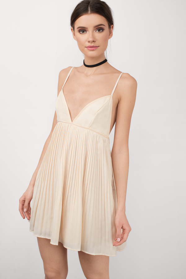 Cream Dresses | Nude, Ivory, Champagne Colored, Long, Short | Tobi