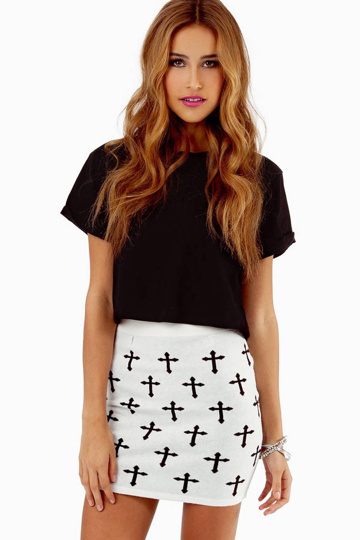 Trendy Cream Skirt - White Skirt - High Waisted Skirt - $10.00