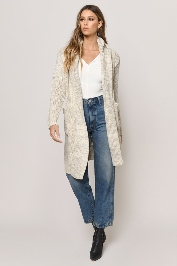 Cute Taupe Multi Cardigan - Knitted Cardigan - Taupe Multi ...