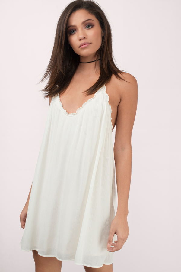 e6de540389c Cute White Day Dress - Backless Dress - Babydoll Dress - € 20