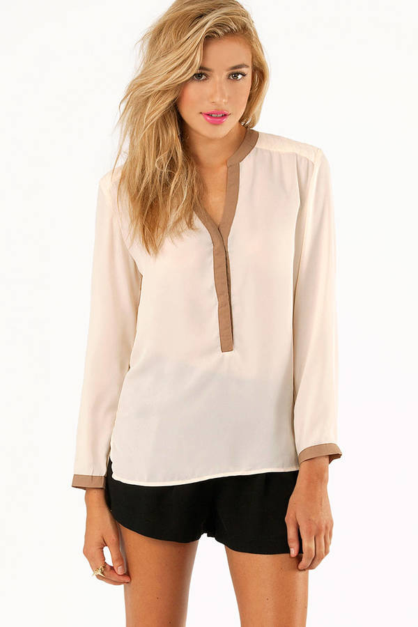 Reaching Dane Trim Blouse
