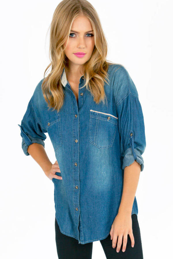 Perfect Denim Button Up Shirt