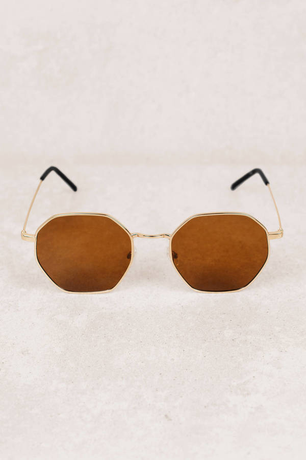 68068f4897f Brown Sunglasses - Octagon Sunglasses - Brown Summer Sunglasses ...