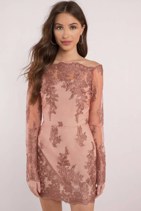 Sadie Dark Rose Lace Bodycon Dress
