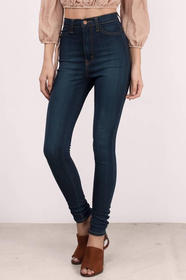 High Waisted Jeans | Black High Waisted Skinny Jeans | Tobi