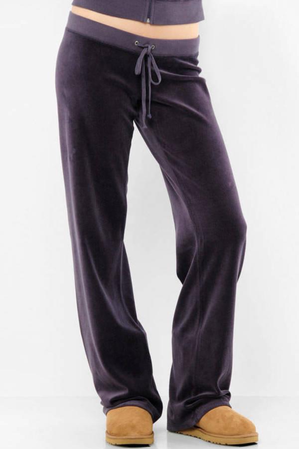 18143445542b Purple Juicy Couture Pants - Dark Sweatpants - Purple Velour ...