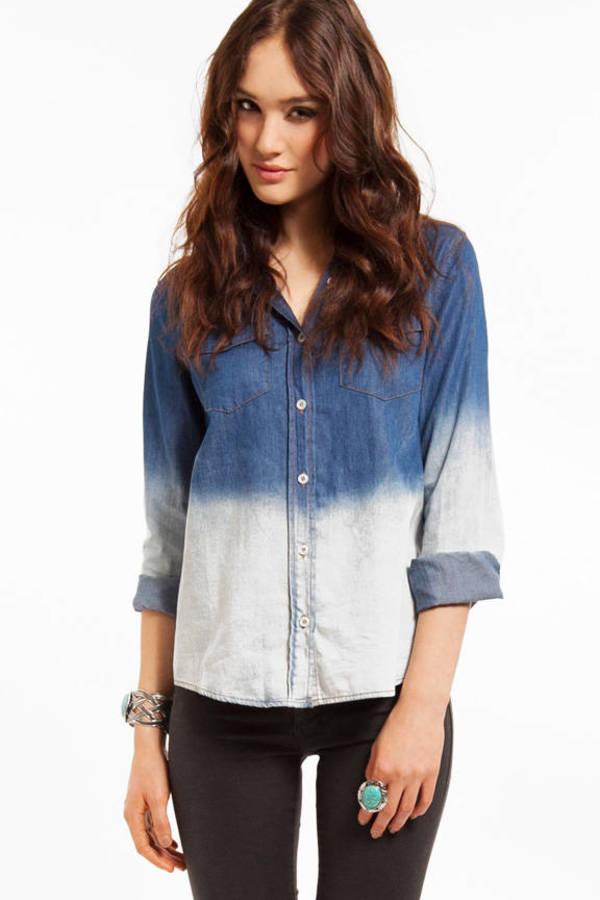 Bleach Denim Shirt
