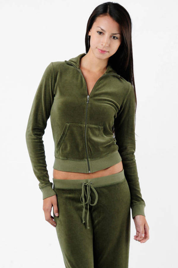 231c941a04fa Army Green Track Jacket - Track Jacket With Pockets - Fall Army ...