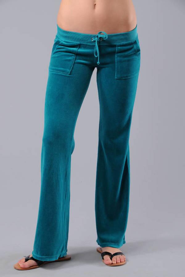 e9bdc2dd9d4e Blue Juicy Couture Pants - Soft Velour Pants - Blue Velvet Pants ...