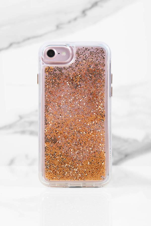 Casetify Gold Chrome Iphone Glitter Case - $22 | Tobi US