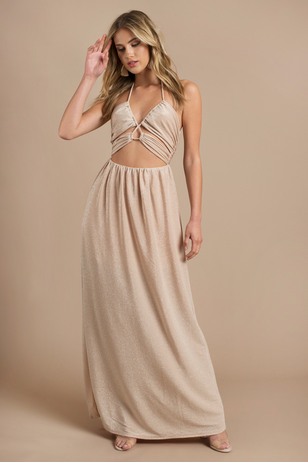 Flowy Maxi Dress With Sleeves