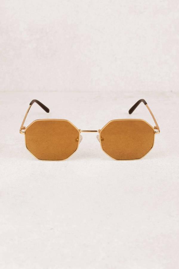 Narsha Gold Octagon Framed Sunglasses - € 9 | Tobi IE
