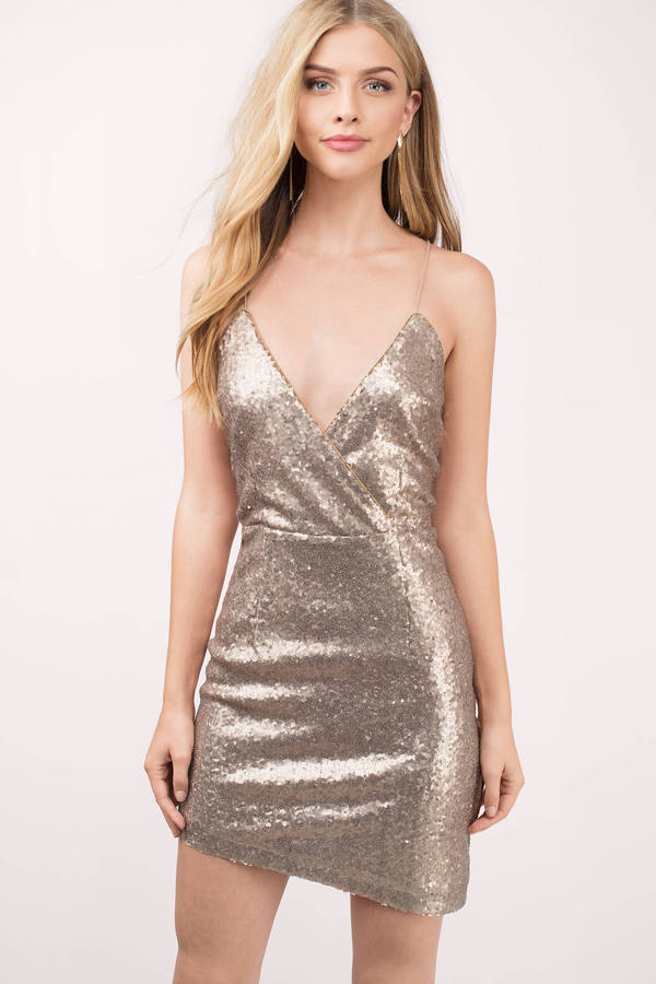 Gold Bodycon Dress Spaghetti Strap Dress Gold Bodycon