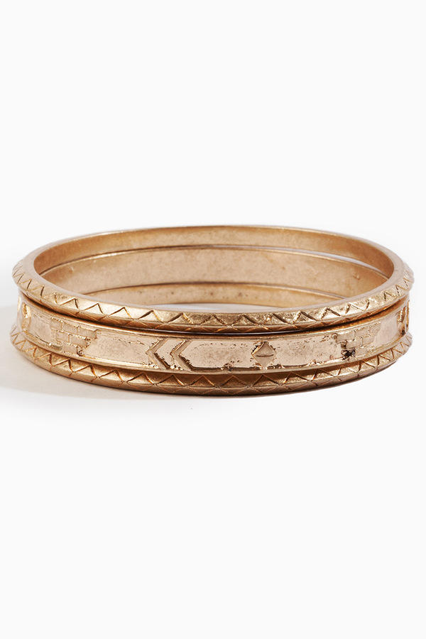 Three Gold Bangles