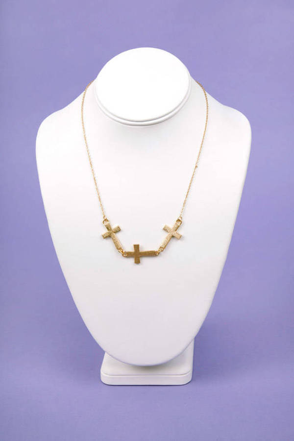 Tri Cross Necklace