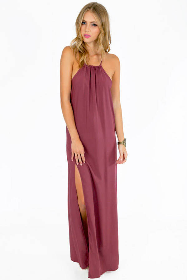 Slit Second Maxi Dress