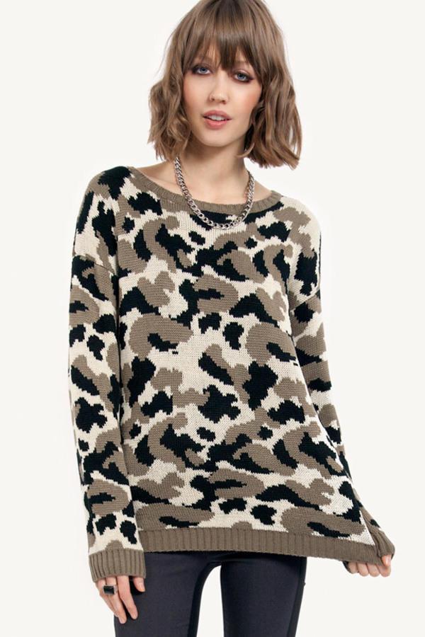Flecks of Camo Sweater