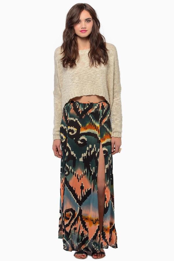 somedays lovin Tennessee Double Split Maxi Skirt