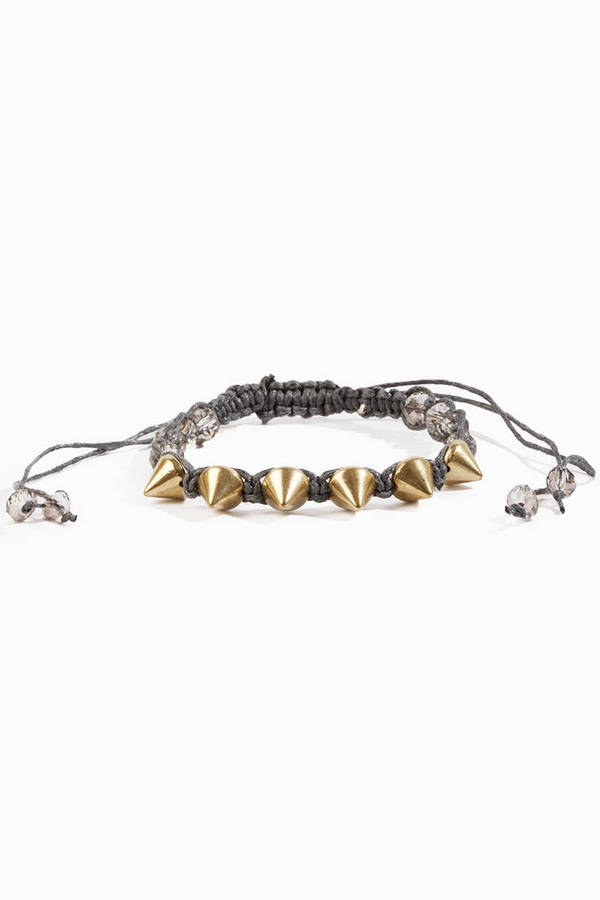 Braid and Spike Bracelet