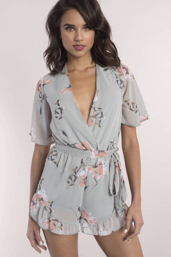 Rompers White Romper Cute Black Floral Sexy Long