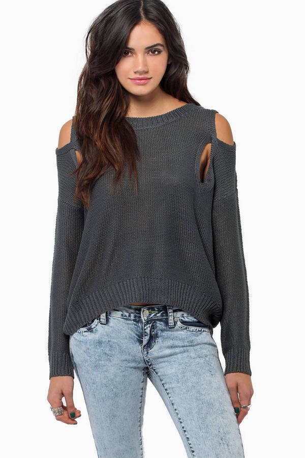 No More Shoulders Sweater