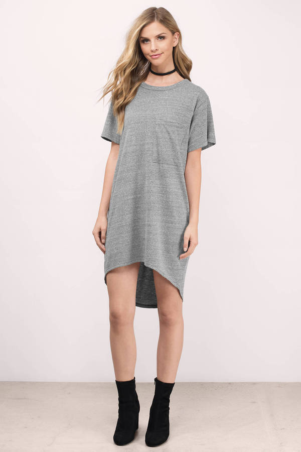 5b5959d8a358 Cute Grey Day Dress - Grey Dress - Crew Neck Dress - Day Dress -  16 ...
