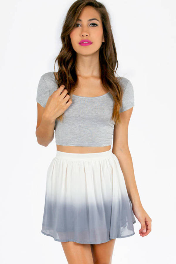 Say Ombre Skater Skirt