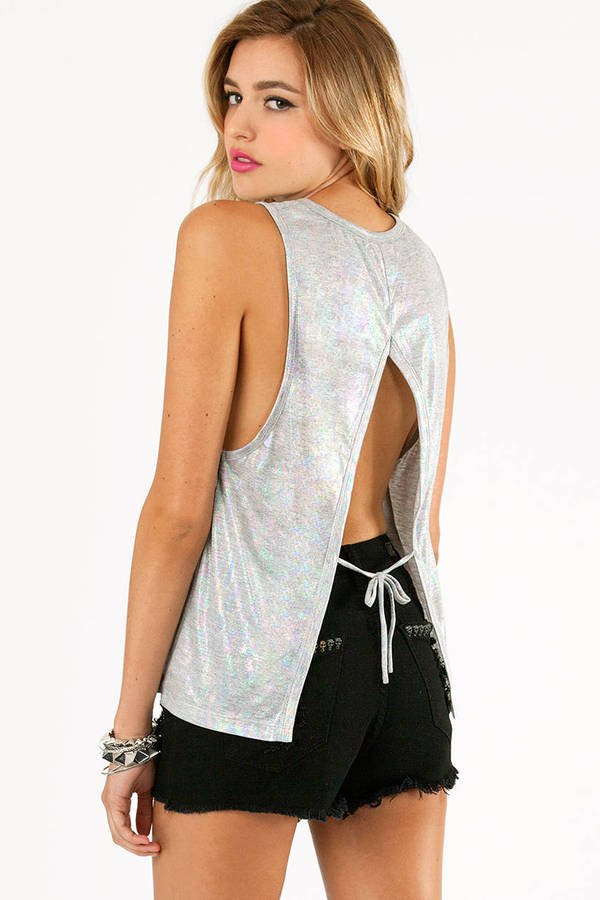 Shimmer Me Iridescent Tank Top