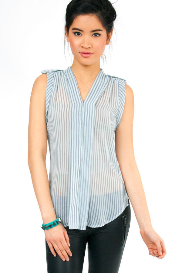 Simply Striped Short Sleeve Top