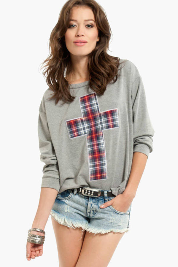 Pious Plaid Sweater