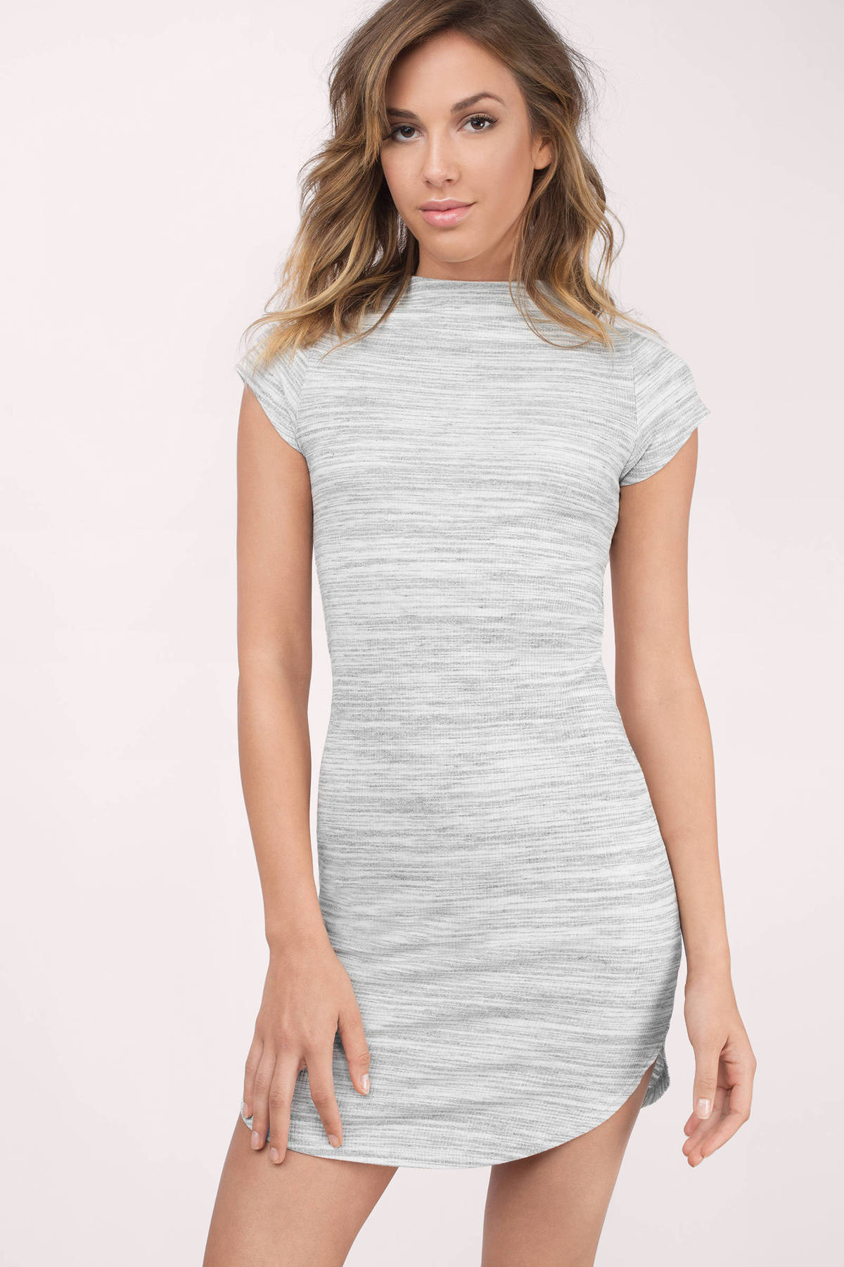 Grey bodycon maxi dress