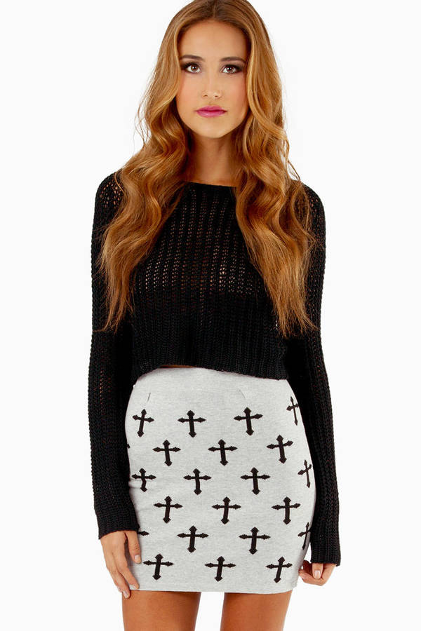Knit Wit Crosses Skirt
