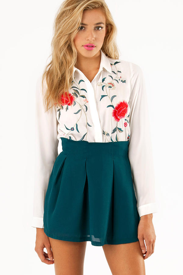 Carla Floral Button Up