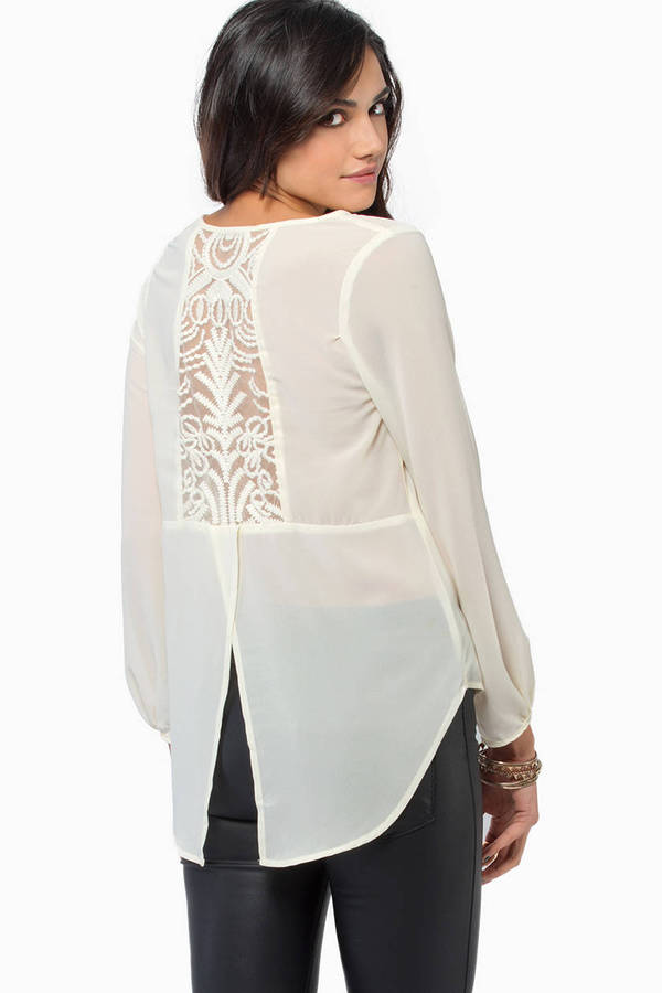 Chantilly Lace Back Blouse