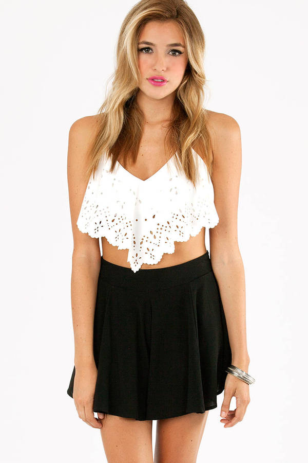 Chase Laser Cut Crop Top