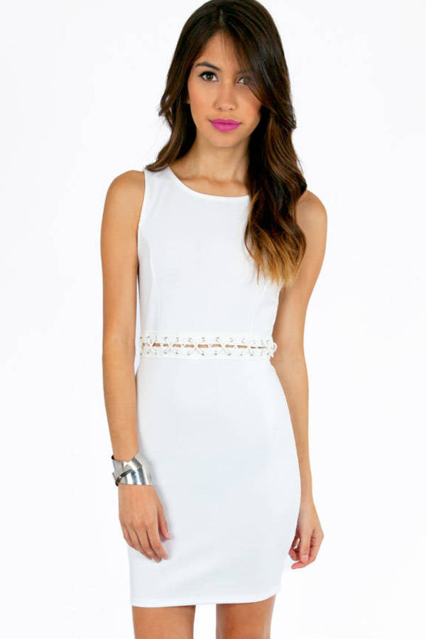 Criss Cross Waist Bodycon Dress