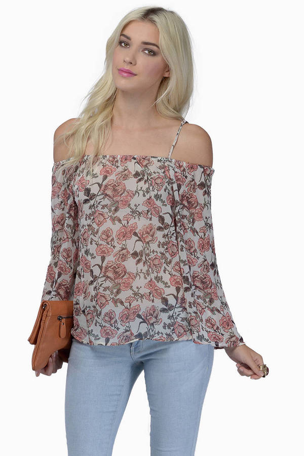 Mod Rose Cold Shoulder Top