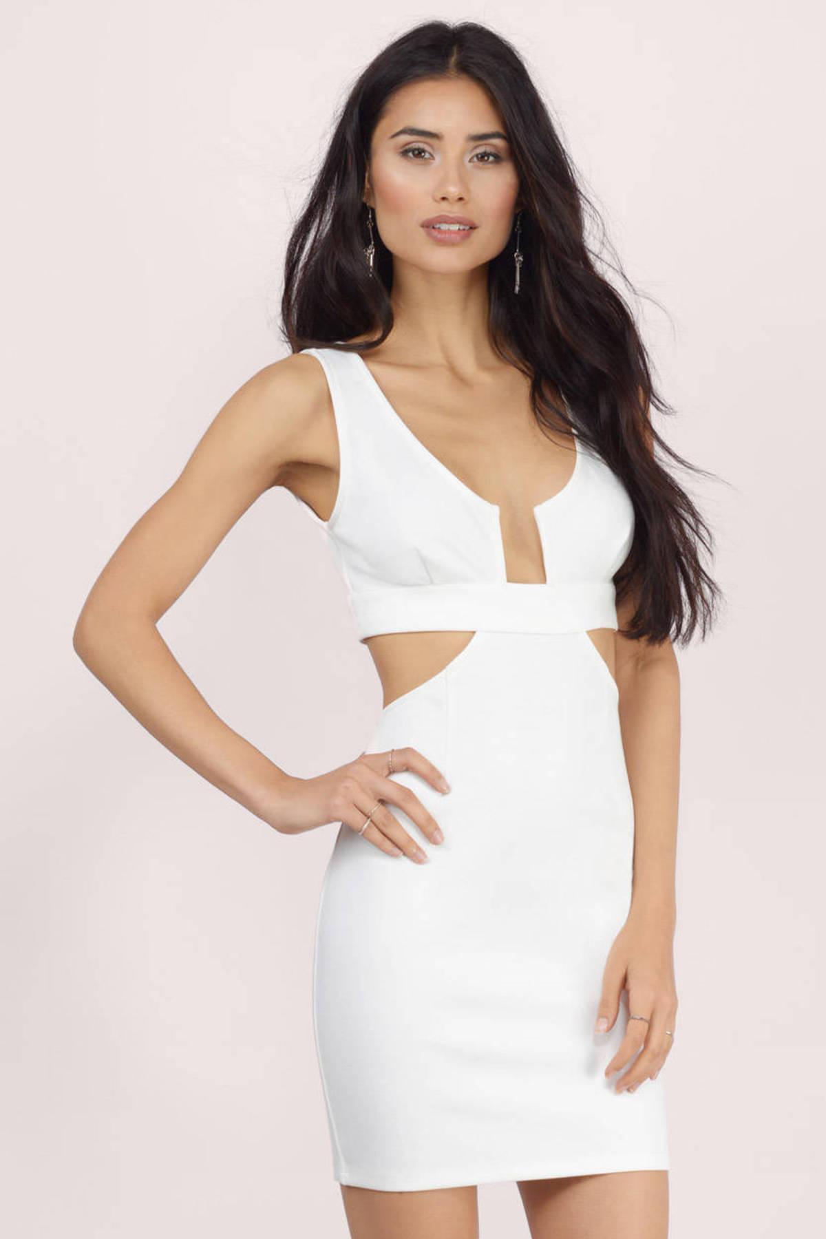 Cheap Ivory Bodycon Dress - Backless Dress - $14.00