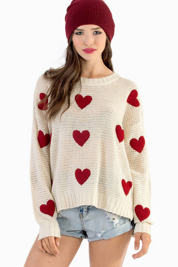 Cotton Candy Hearts All Over Sweater