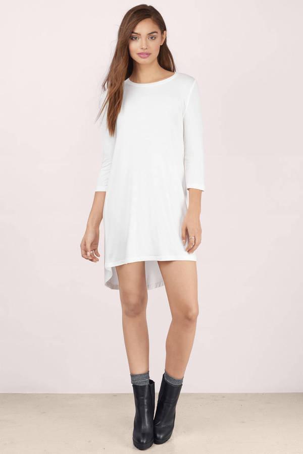 Cute Lavender Day Dress - Long Sleeve Dress - $17.00