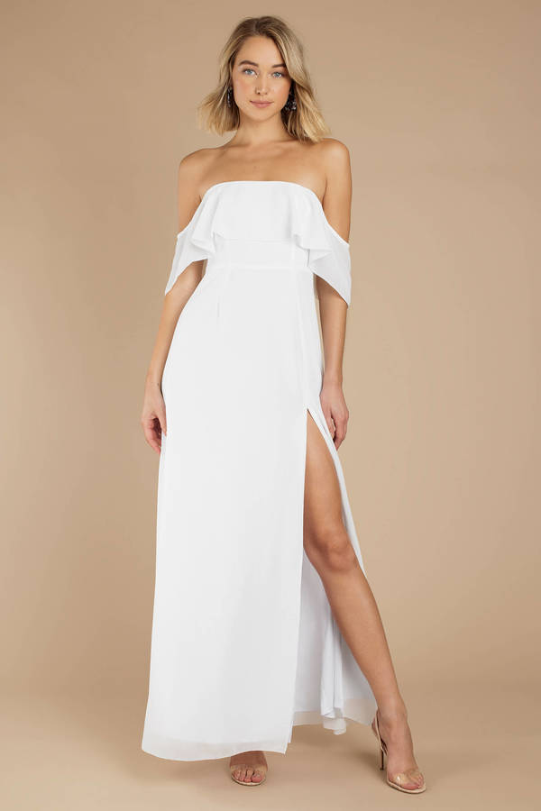 Pretty Long White Sundresses