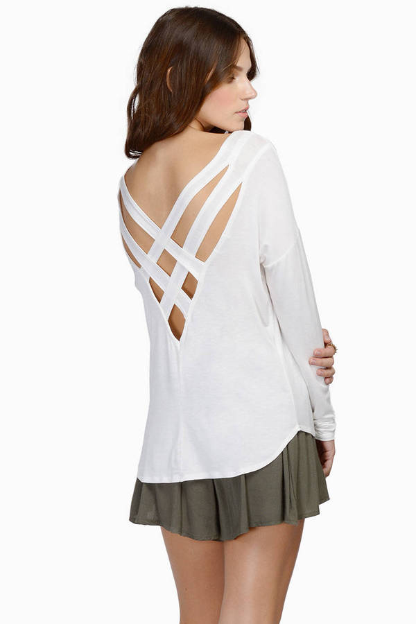 Karli Crossed Back Top